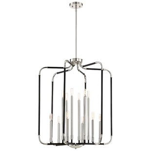 Modern contemporary lantern chandelier allmodern karst 12 light lantern pendant mozeypictures Image collections