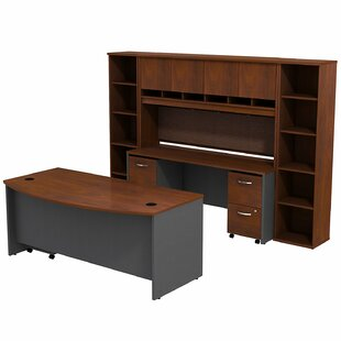 Buy clear Series C Bow Front 6 Piece Desk Office Suite By Bush Business Furniture