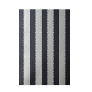 Clearance Stripe White Indoor/Outdoor Area Rug Bye by design