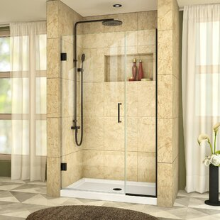 Unidoor Plus 43.5 x 72 Hinged Frameless Shower Door with Clearmax? Technology by DreamLine