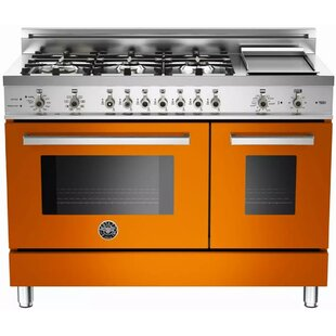 48 Free-standing Dual Fuel Range with Griddle by Bertazzoni