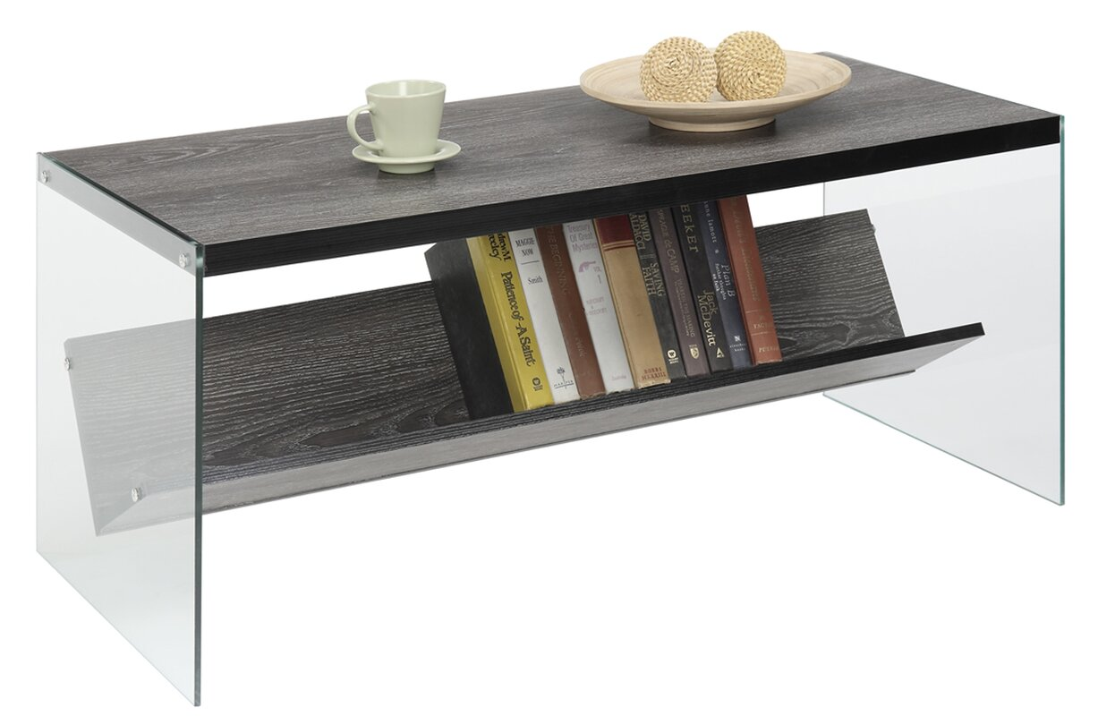 Wade Logan Calorafield Coffee Table With Storage Reviews Wayfair