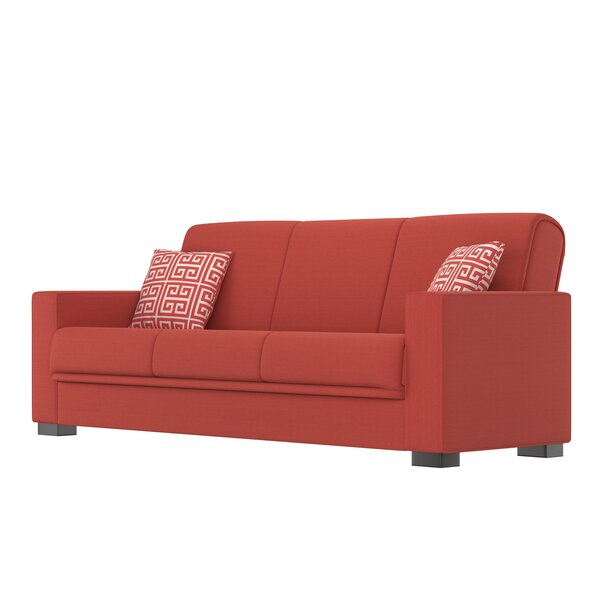 Red Plaid Sleeper Sofa | Wayfair