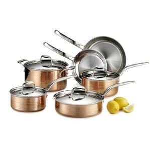 Foreman 10 Piece Copper Cookware Set