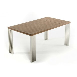 Derouen Solid Wood Dining Table by Orren ..