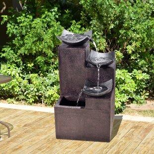 Peaktop Resin Outdoor Tiered Zen Fountain