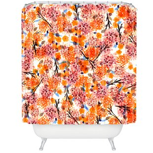 Floral Forest Single Shower Curtain