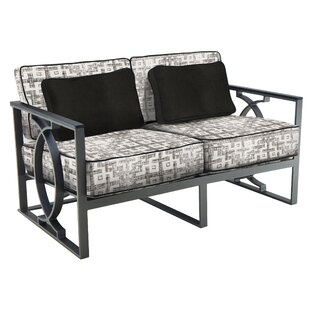 Leona Sunrise Loveseat with Cushions