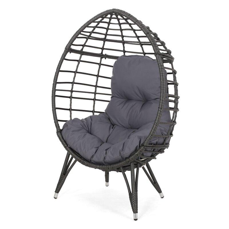 Bloomsbury Market Reese Wicker Teardrop Swing Chair | Wayfair