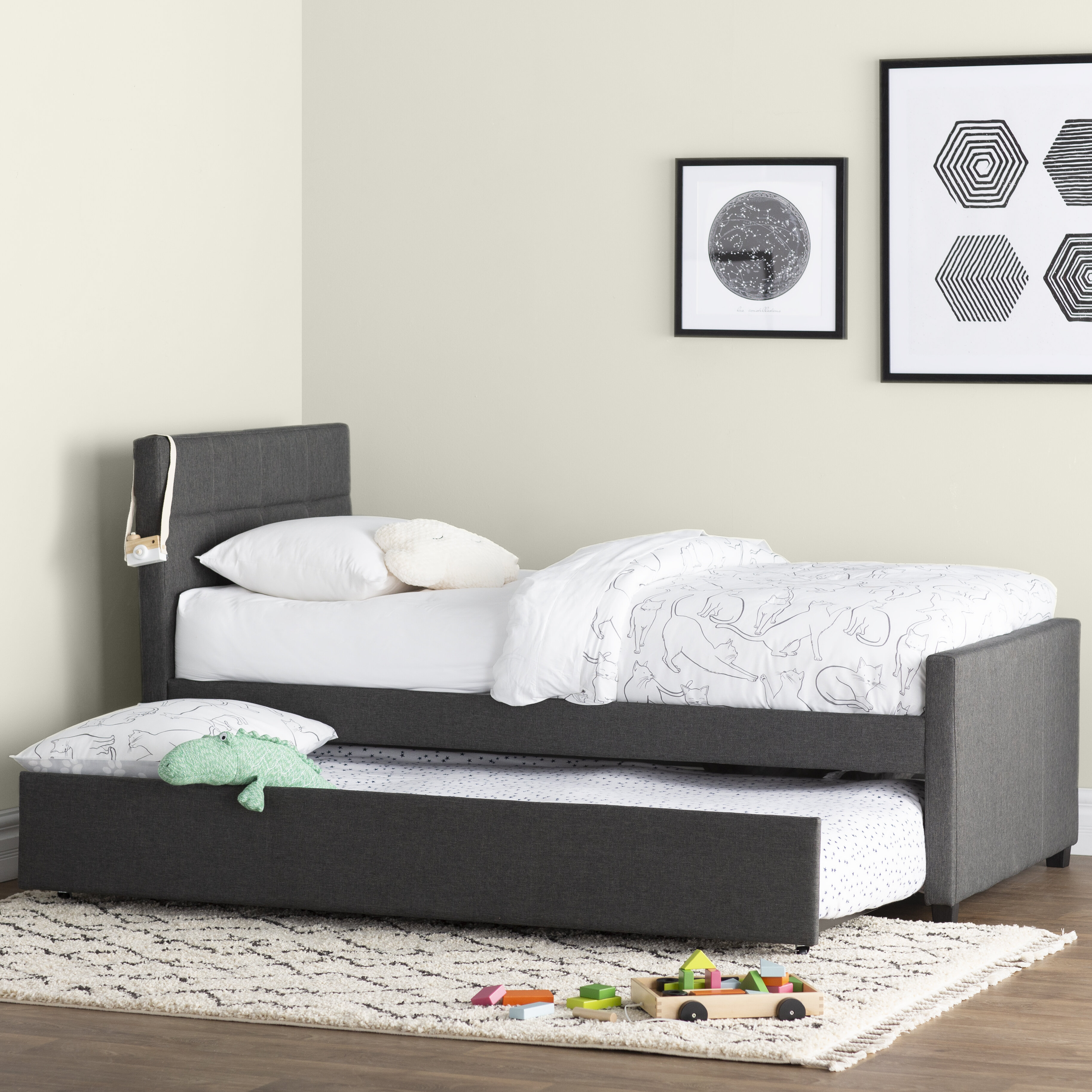 Mack Milo Algrenon Twin Platform Bed With Trundle Reviews