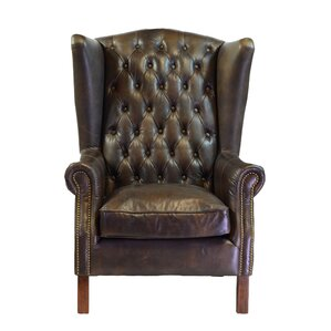 Leather Wingback Accent Chairs Youll Love Wayfair