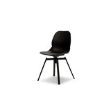 Tanvir Upholstered Side Chair in Black (Set of 4) by Wrought Studio™