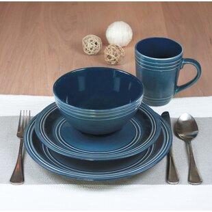 Allure 16 Piece Dinnerware Set Service, for 4