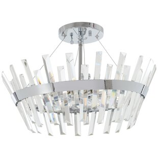 House of Hampton Laffoon 6-Light Semi Flush Mount