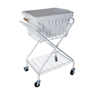 Check Prices Verona Collapsible Laundry Cart Removable Basket & Canvas Bag By Artesa