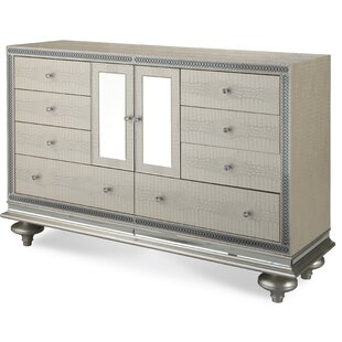 Hollywood Swank 9 Drawer Combo Dresser by Michael Amini