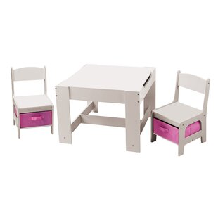 Conde Children's 3 Piece Table And Chair Set By Zoomie Kids