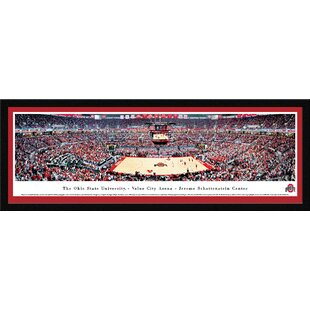 NCAA Ohio State University - Basketball by Christopher Gjevre Framed Photographic Print By Blakeway Worldwide Panoramas, Inc