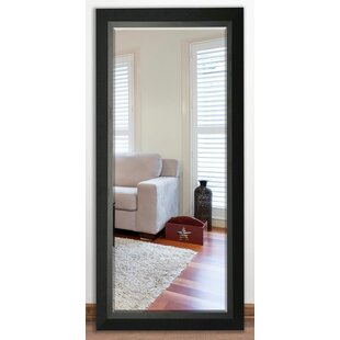 Darby Home Co Beveled Black walnut Wall Mirror