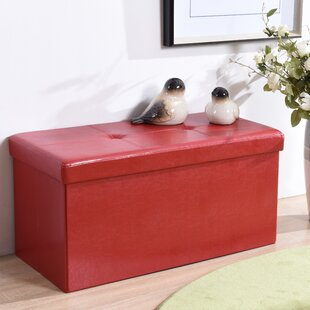 Hodedah Collapsible Storage Ottoman
