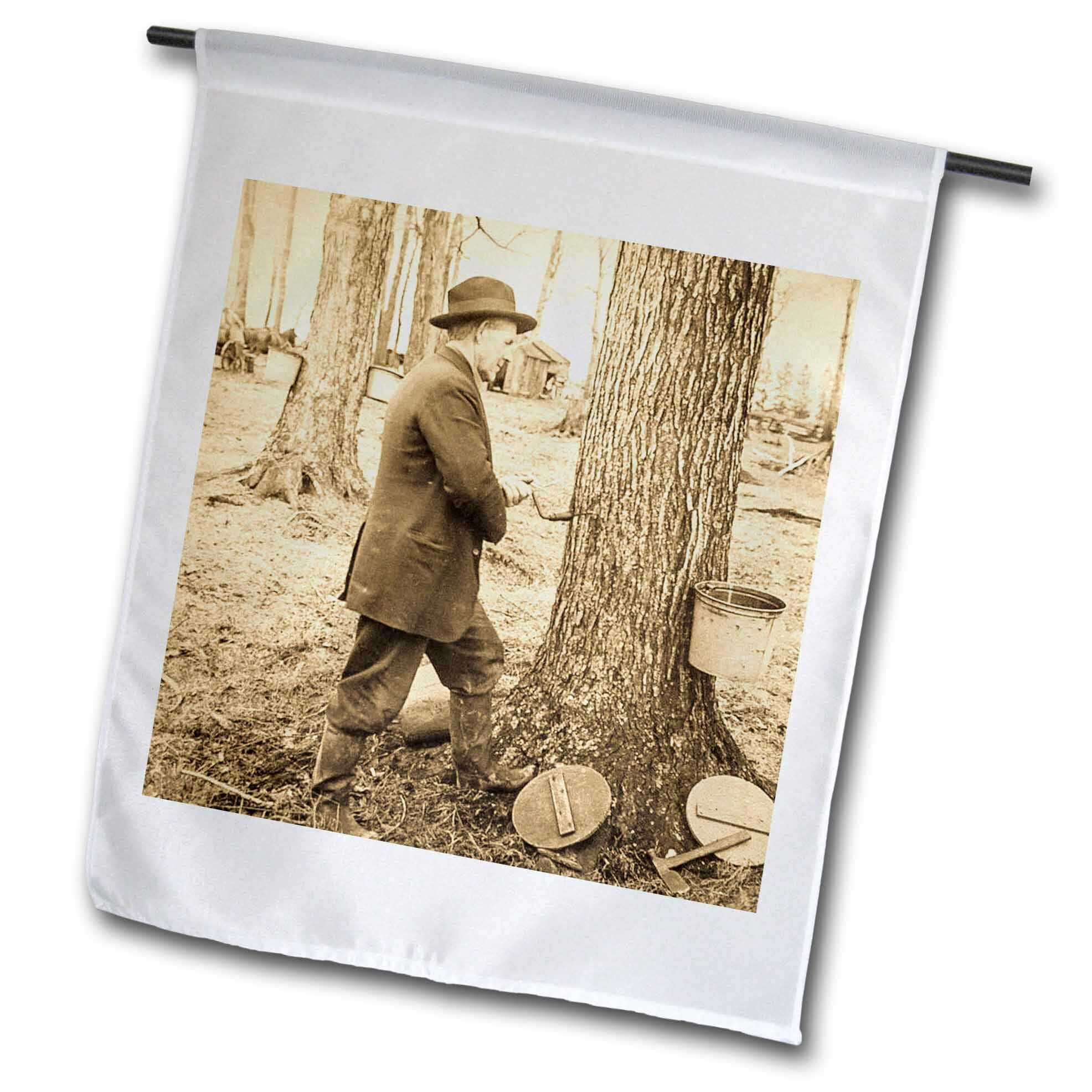 3drose Keystone Magic Lantern Slide Antique Tapping Maple Syrup Vermont Polyester 18 X 12 In House Flag Wayfair