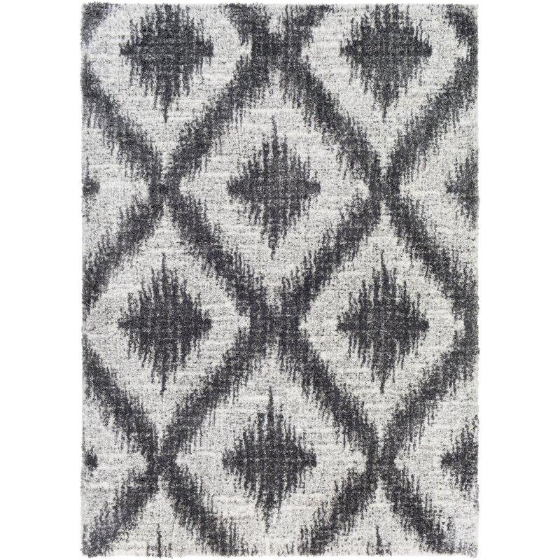 Bloomsbury Market Angelike Power Loom Gray Charcoal Rug Wayfair