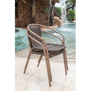 Panama Jack Outdoor Cafe Stacking Patio Dining Chair (Set of 2)