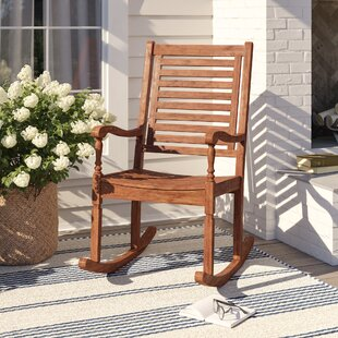Jarrard Solid Acacia Wood Patio Rocking Chair By Ophelia & Co.