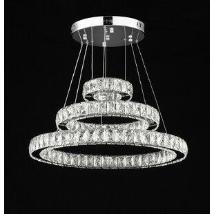 Mercer41 Laymon 162-Light LED Crystal Chandelier