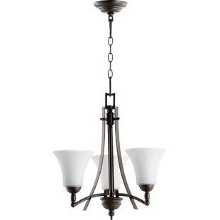 Eastchester Modern 3-Light Shaded Chandelier by Alcott Hill