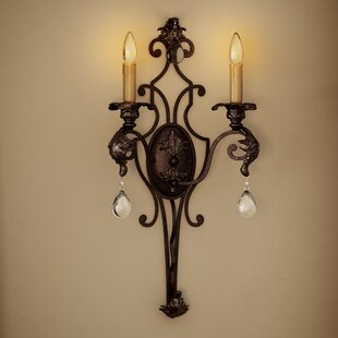 Look for Bartram 2-Light Candle Wall Light By Astoria Grand