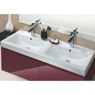 Check Prices Mona Ceramic Rectangular Drop-In Bathroom Sink with Overflow ByCeraStyle by Nameeks