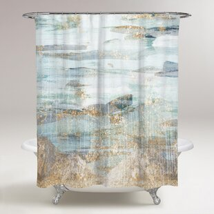 Comparison Celine Love in Teal Shower Curtain ByEverly Quinn