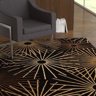 Deweese Black Area Rug ByEbern Designs