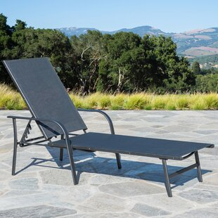 Outdoor Reclining Chaise Lounge by Winston Porter