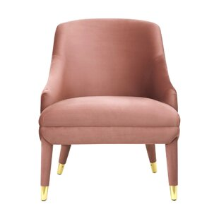 Cleve Velvet Armchair by Everly Quinn