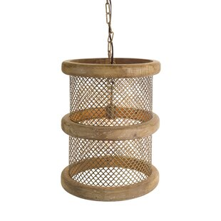 Gracie Oaks Walley Hanging Lamp 1-Light Drum Pendant