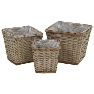 3 Piece Rattan Plant Pot Set By Sol 72 Outdoor