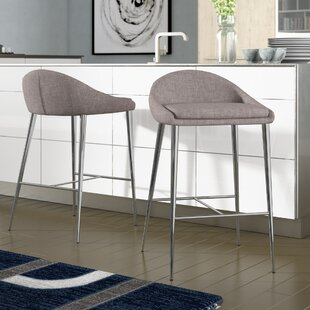 Cassel 31.7 Counter Bar Stool (Set of 2) Wade Logan