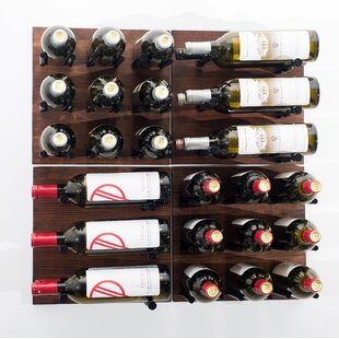 VintageView Grain and Rod 30 Bottle Wall Mounted Wine Rack