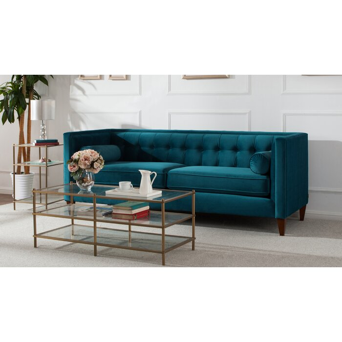 Harcourt Tufted Chesterfield Sofa In Teal