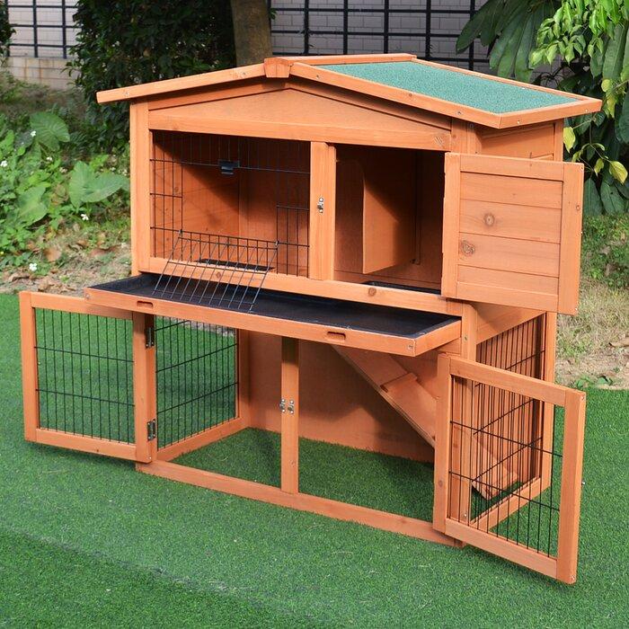 Tucker Murphy Hillhouse Wooden Pet Hutch
