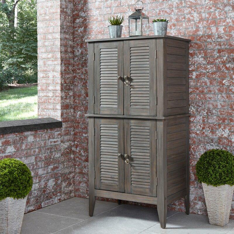 Gracie Oaks Wilczek 195.05 Gallon Solid Wood Cabinet
