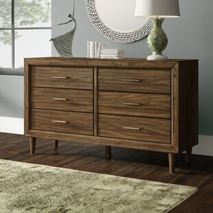 Lund 6 Drawer Double Dresser