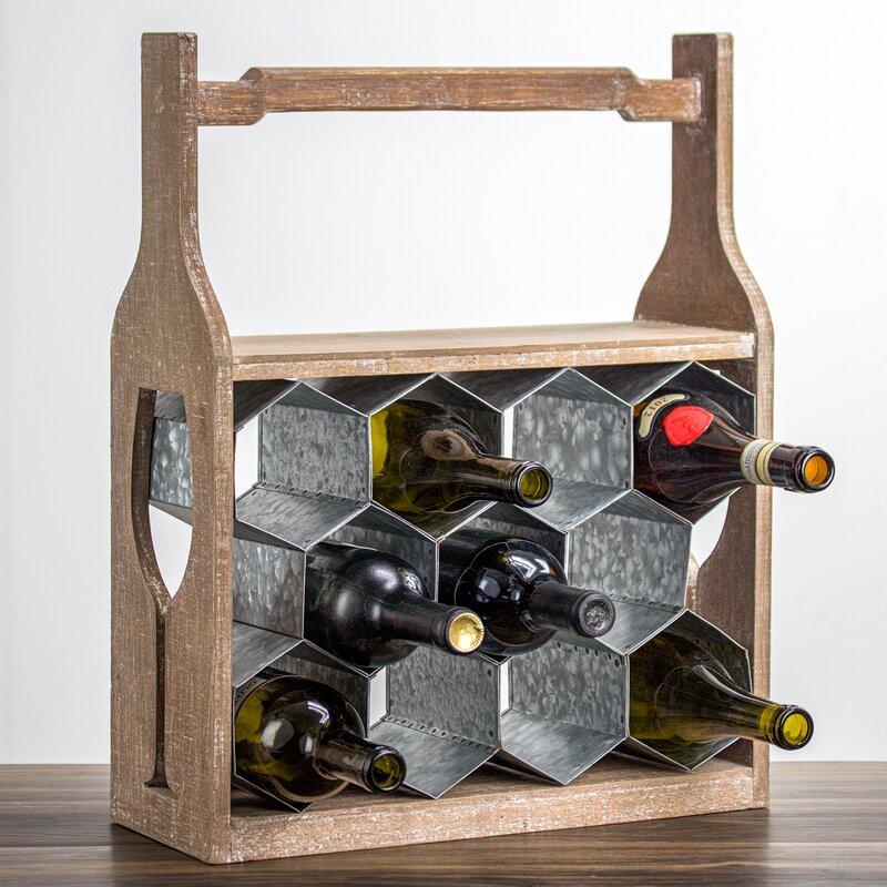 Gracie Oaks Shawnta 11 Bottle Tabletop Wine Bottle Rack