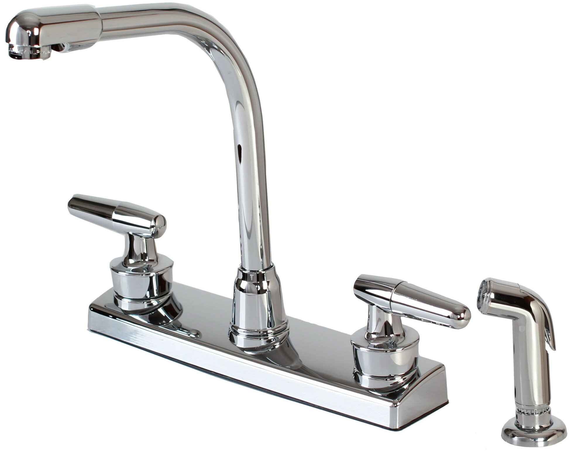 Hardware House Double Handle Kitchen Faucet With Side Spray Reviews