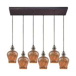 Brightmare Rectangle 6-Light Cascade Pendant by World Menagerie