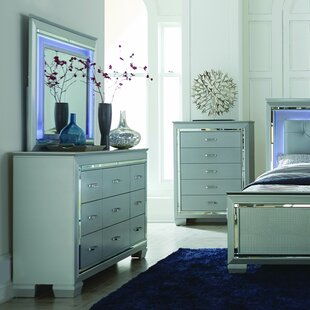 House of Hampton Boden 9 Drawer Dresser with Mirror