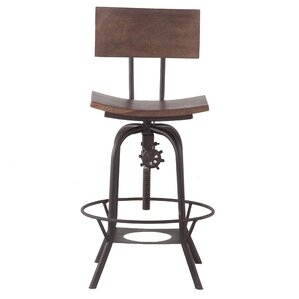 Adjustable Swivel Bar Stool by Y Decor