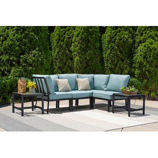 Avalon 6 Piece Rattan Modular Sectional Set with Cushions